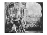 St. Peter and St. John at the Entrance to the Temple, 1649 Art Print
