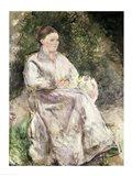 Portrait of Julie Velay, Wife of the Artist, c.1874 Art Print