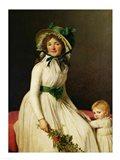 Madame Pierre Seriziat with her Son Art Print