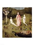 The Garden of Earthly Delights, c.1500, Detail Art Print