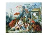 The Chinese Garden, c.1742 Art Print