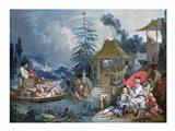 The Chinese Fishermen Art Print