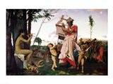 Anacreon, Bacchus and Aphrodite, 1848 Art Print