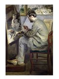 Frederic Bazille at his Easel, 1867 Art Print