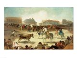 A Village Bullfight Art Print