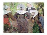 Four Breton Women, 1886 Art Print