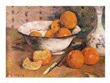 Still life with Oranges, 1881 Art Print