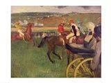 The Race Course - Amateur Jockeys near a Carriage Art Print