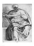 The Prophet Joel, after Michangelo Buonarroti Art Print