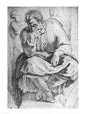 The Prophet Jeremiah, after Michangelo Buonarroti Art Print