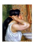 Girl Combing her Hair, 1907 Art Print
