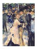 Ball at the Moulin de la Galette, 1876 - close up Art Print