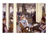 Women on a Cafe Terrace, 1877 Art Print