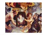 The Medici Cycle: Henri IV  Receiving the Portrait of Marie de Medici Art Print