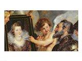 The Medici Cycle: Henri IV  Receiving the Portrait of Marie de Medici detail Art Print