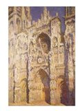Rouen Cathedral in Full Sunlight: Harmony in Blue and Gold, 1894 Art Print