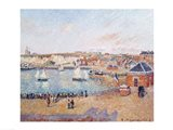The Outer Harbour at Dieppe, 1902 Art Print