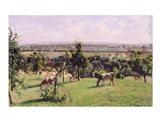 Hillside of Vesinet, Yvelines, 1871 Art Print