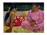Women of Tahiti, On the Beach, 1891 Art Print