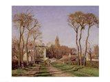 Entrance to the Village of Voisins, Yvelines, 1872 Art Print