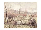 Snow Effect at Eragny, 1894 Art Print