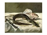 Eel and Red Mullet, 1864 Art Print