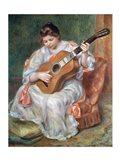 The Guitar Player, 1897 Art Print