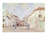 Rue de la Chaussee at Argenteuil Art Print