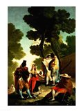 A Maja and Gallants, 1777 Art Print