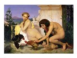 Young Greeks Encouraging Cocks to Fight, 1846 Art Print