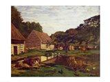 A Farmyard in Normandy, c.1863 Art Print