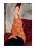 Jeanne Hebuterne in a Yellow Jumper, 1918-19 Art Print