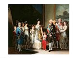 Charles IV and his family, 1800 Art Print