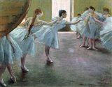 Dancers at Rehearsal Art Print