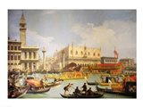 The Betrothal of the Venetian Doge to the Adriatic Sea Art Print