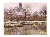The Church at Vetheuil under Snow, 1878-79 Art Print