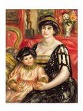 Madame Josse Bernheim-Jeune and her Son Henry, 1910 Art Print