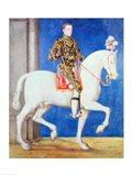 Equestrian Portrait Presumed to be Dauphin Henri II Art Print