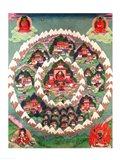 The Paradise of Shambhala, Tibetan Banner Art Print