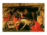 Lamentation of Christ. c.1490 Art Print