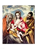 Virgin and Child with SS. Anne and Joseph Art Print