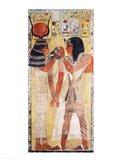 The Goddess Hathor placing the magic collar on Seti Art Print