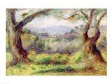 Landscape at Les Collettes, 1910 Art Print