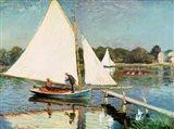 Sailing at Argenteuil, c.1874 Art Print