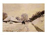 The Cart, or Road under Snow at Honfleur, 1867 Art Print
