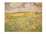 The Plain at Auvers, 1890 Art Print