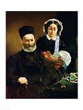 Portrait of Monsieur and Madame Auguste Manet, 1860 Art Print