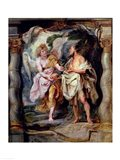 The Prophet Elijah and the Angel in the Wilderness Art Print