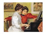 Yvonne and Christine Lerolle at the piano, 1897 Art Print