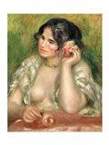Gabrielle with a Rose, 1911 Art Print